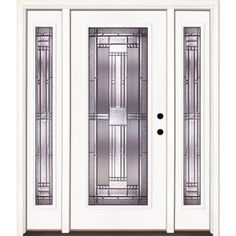 Feather River Doors Preston Full Lite Primed Smooth Fiberglass Entry Door with Sidelites-643101-3A4 at The Home Depot