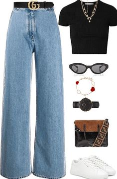 Spring Outfit Women, Fall Outfits For Work, Casual Fall Outfits, Retro Outfits, Classy Outfits, Outfits For Teens, Stylish Outfits, Summer Outfits, Polyvore Outfits Casual