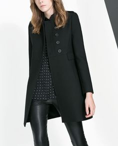 Love this coat, wish it come in other color.  {from Zara}