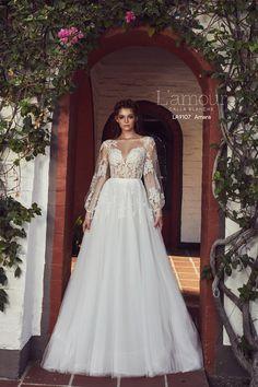 50df4bb22c4  Amara  style   LA9107. Available colors  Ivory. Lace Weddings