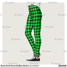 Shop Black Vintage Green Buffalo Plaid Leggings created by LeonOziel. Gym Leggings, Leggings Fashion, Black Leggings, Beautiful Yoga, Gym Fashion, Fashion Outfits, Gym Style, Gingham Check, Running Tights