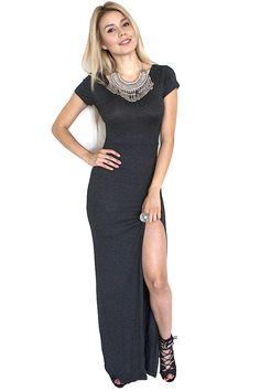 Back to Basics Slit Maxi Dress