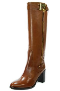 A camel leather boot by Luis Onofre with a metallic gold buckle and a 2.5 inch heel. Work and street appropriate, pair these boots with dresses or jeans for a classic style.   Camel Leather Boot by Luis Onofre. Shoes - Boots South Carolina