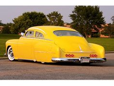 51 CHEVY TORPEDO BACK--would look better in a different color but still a gorgeous car.
