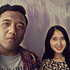 Me and my office mate, Marissa. First time using Prisma App on android.