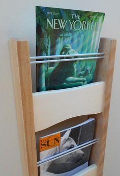 Modern Magazine Rack -- Wall Mounted Magazine Rack -- Birch And Aspen -- Wood…