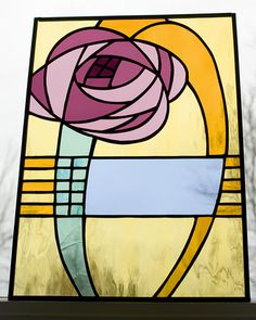 inspired by Art Nouveau glass by Charles Rennie Mackintosh.