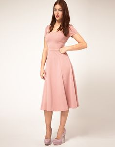 asos midi dress with square neck $80.57