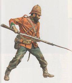 Sargento británico durante la Guerra Zulú, cortesía de Richard Scollins. http://www.elgrancapitan.org/foro/viewtopic.php?f=21&t=11680&p=903312#p903203