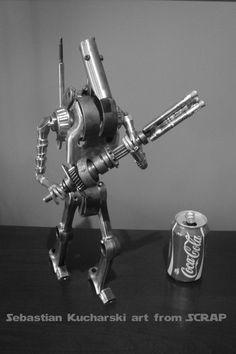 STAR WARS Battle Droid  B1 Metal art sculpture  - Scrap metal art