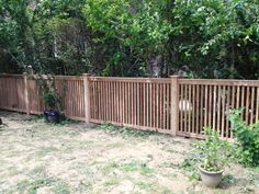 Capped Wood Picket Fence