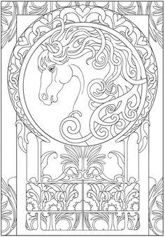 Creative Haven Art Nouveau Designs Collection Coloring Book - Norton Safe Search