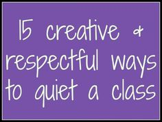 15 creative & respectful ways to quiet a class - amazing ideas on how to get your students' attention without yelling.: 15 creative & respectful ways to quiet a class - amazing ideas on how to get your students' attention without yelling. Classroom Behavior Management, Behaviour Management, Classroom Discipline, Management Tips, Future Classroom, School Classroom, Classroom Ideas, Classroom Procedures, Music Classroom