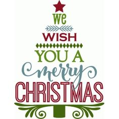 Silhouette Design Store: we wish you a merry christmas - tree