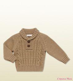 Приглашаю всех желающих вязать вот такой замечательный свитерок! Стартуем в понедельник, 29-ого! а пока подбираем ниточки, вяжем образцы! Вот модель для мальчиков помоложе: