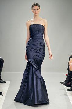 Bridesmaids  dress for a navy blue wedding color scheme from Monique  Lhuillier Bridesmaids ed98faab116d