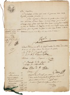 Marriage document signed by both Napoleon and Josephine.