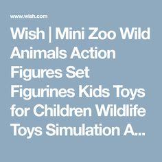 Wish | Mini Zoo Wild Animals Action Figures Set Figurines Kids Toys for Children Wildlife Toys Simulation Animal Model Toy Bear