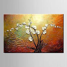 Magnólia pintura a óleo denudata flor mão telas pintadas abstrato com esticada…
