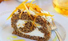 Narancsos-mascarponés sütőtöktekercs