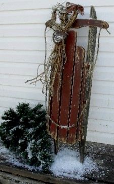 Old Primitive Wood Sled