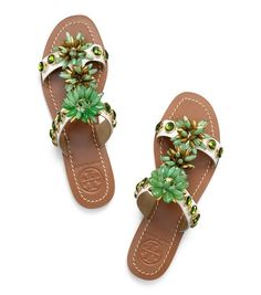 b722b03eeefba7 Tory Burch Sydney Flat Sandal   Women s Parties  amp  Events