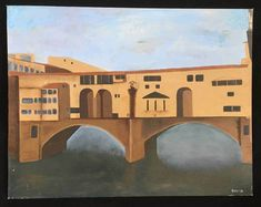 """Signed, lower right """"David """". no local pick up. Cubist Paintings, Italy Art, European Paintings, Florence Italy, Naive, Folk Art, Scenery, Ebay, Modernism"""