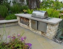 Simple, yet functional outdoor cooking area. LandscapingNetwork.com