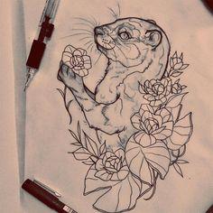 Otter sketch by Essi Tattoo www.essitattooart.com