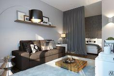 Дизайн однокомнатной квартиры (32 кв.м.) / Взлом логики