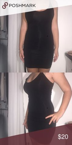 Fashion Nova Black Mini Dress Black sleeveless mini dress from Fashion Nova. Scoop neck and scoop back. Very comfy and breathable. Size medium. Never worn out and in pristine condition. Fashion Nova Dresses Mini