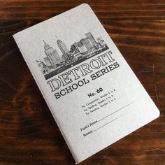 Detroit School Series Notebook by citybird on Etsy