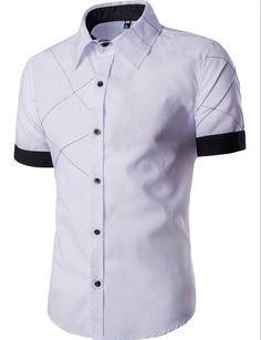 Men's Short Sleeve Collar Dress Shirt