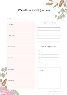 / Weekly Planner Planificador Semanal / Weekly Planner 1 million+ Stunning Free Images to Use Anywhere Diy Agenda, Agenda Planner, Planner Pages, Week Planner, Weekly Planner Printable, Planner Template, Freebies Printable, Bullet Journal School, Bullet Journal Inspiration