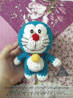 Mesmerizing Crochet an Amigurumi Rabbit Ideas. Lovely Crochet an Amigurumi Rabbit Ideas. Crochet Amigurumi Free Patterns, Crochet Cats, Free Crochet, Crochet Animals, Crochet Doll Clothes, Doraemon, Felt Dolls, Stuffed Toys Patterns, Crochet Projects