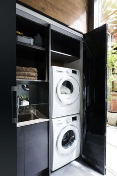 24 Laundry Room Ideas, Worry-freeing Your Irking Chore Laundry cupboard, European laundry, combined bathroom laundry Laundry Cupboard, Laundry Closet, Laundry Room Organization, Laundry Organizer, Laundry Shelves, Laundry Sorter, Basement Laundry, Laundry Basket, Hidden Laundry