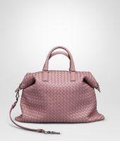 Shop Bottega Veneta® Women's MALLOW INTRECCIATO NAPPA CONVERTIBLE. Discover more details about the item.