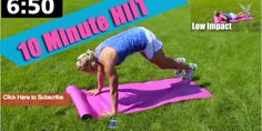 10 Minute HIIT & Total body Toning Tabata Workout - High Intensity Interval Training Workout