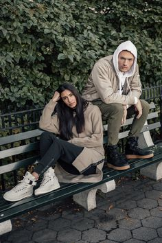 Kith Editorial for the Nike Couple Photoshoot Poses, Couple Posing, Couple Shoot, Couple Photography, Photography Poses, Fashion Photography, Street Fashion Photoshoot, Nike Sf Af1, Rugged Style