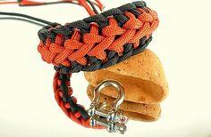 Armbänder - Paracord Survival Armband Edelstahl Schäkel - ein Designerstück von Lu1s bei DaWanda