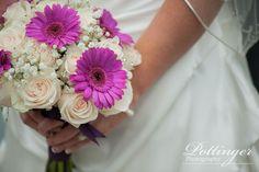 Congratulations to Melissa and Jared, a Cincinnati Celebration Gerber Daisies, Beautiful Bouquets, Cream Roses, Congratulations, Daisy, Romantic, Invitations, Bride, Purple
