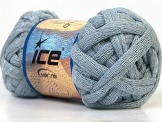 Light Grey Chunky Cotton Arm Knitting Yarn Light by TheSnugglery