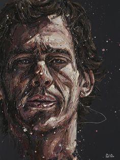 Ayrton Senna by Paul Oz