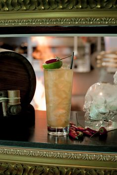 Spiced Rum Rickey -- Sailor Jerry Spiced Rum, Lime, Chili Vodka, Fresh Ginger, topped with Ginger Ale