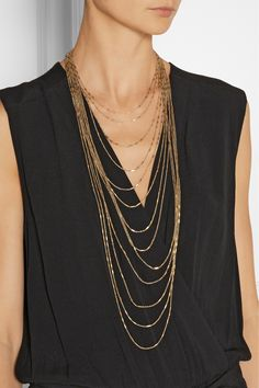 IAM BY ILEANA MAKRI Chantilly gold-plated necklace €455.00 http://www.net-a-porter.com/products/472182