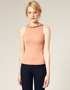 ASOS Scallop Neck Top - StyleSays