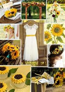 Sunflower wedding theme. ~ The arch and centerpieces are nice.