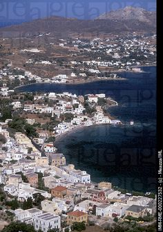 Agia Marina, general view of the village and the bay, Leros, Dodecanese, Greece