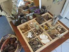 nature table in a reggio playroom an everyday story Explorations for 2 Year Olds Playful Learning Play Based Learning, Learning Spaces, Early Learning, Play Spaces, Reggio Emilia Classroom, Reggio Inspired Classrooms, Curiosity Approach, Reggio Emilia Approach, Emergent Curriculum