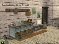 The Sims Resource: Country Cottage Living V2 by TheNumbersWoman • Sims 4 Downloads